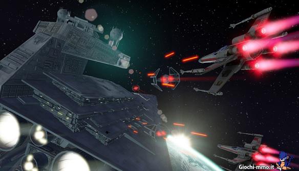 navi spaziali Star Wars Attack Squadrons