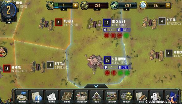 Mappa Rising Generals