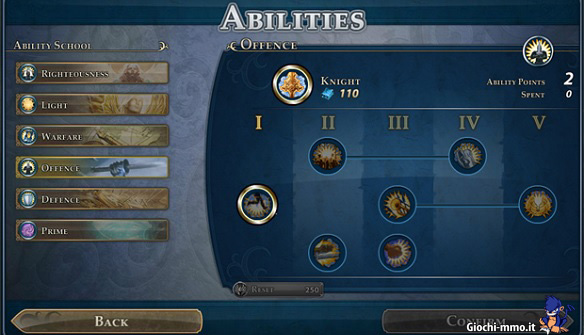 abilità Might & Magic Heroes Online