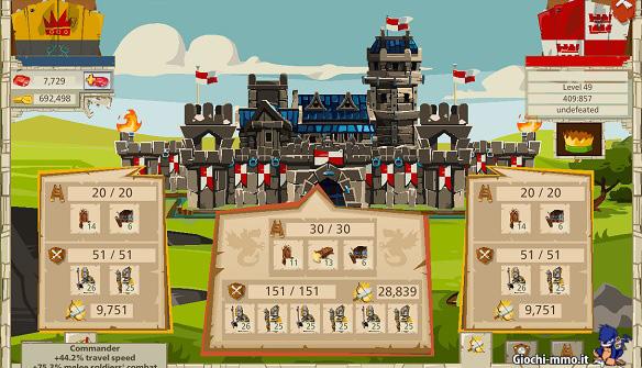 Combattimento castello Goodgame Empire