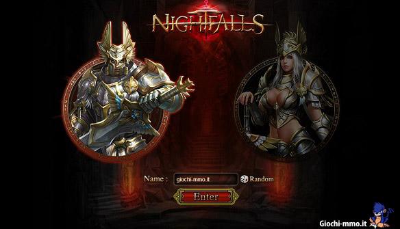 Scelta personaggio Nightfalls