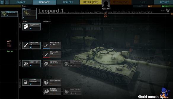 Aggiornamento veicolo Armored Warfare