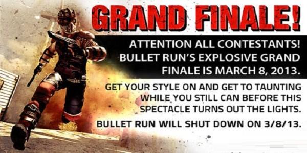 Bullet Run chiude i battenti