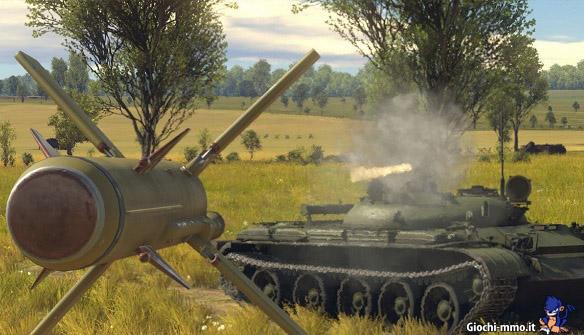 Carro armato con missile guidato