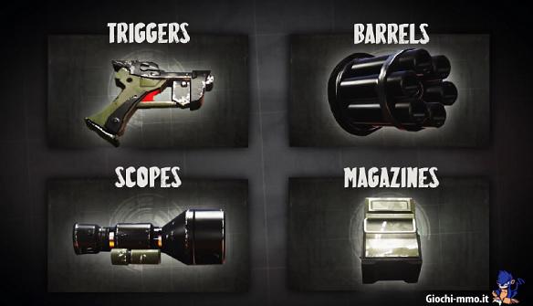 Componenti armi Loadout