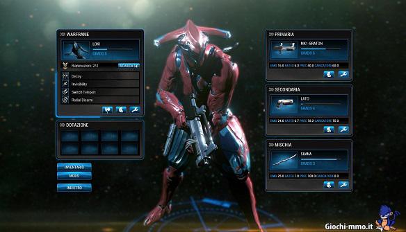 Loki Warframe rosso