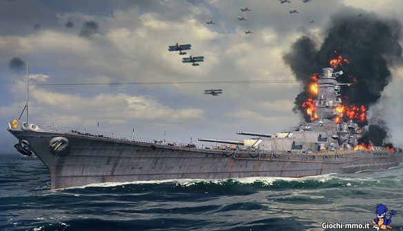 Nave in fiamme World of Warships