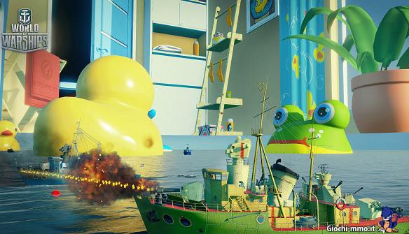 Nave nella vasca World of Warships