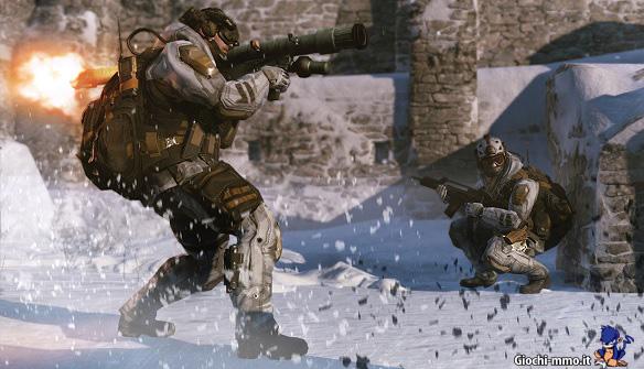 Warface soldati e bazooka Operation Cold Peak