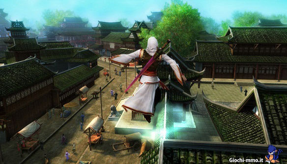 Age of Wushu personaggio in volo