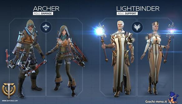 Archer e Lightbinder Skyforge