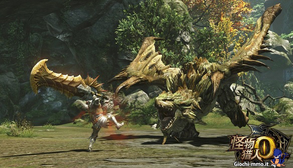 Boss contro eroe Monster Hunter Online