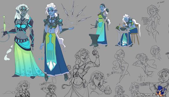 Bozza personaggi RuneScape Idle Adventures