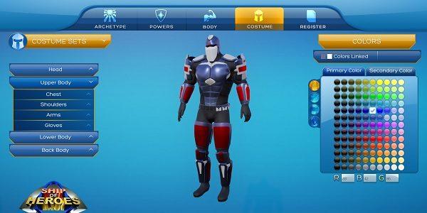 Ship of Heroes: sistema di creazione dei personaggi
