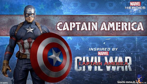Capitan America Marvel Heroes 2016