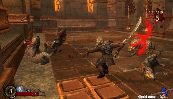 Combattimento contro i lupi in Ascend Hand of Kul