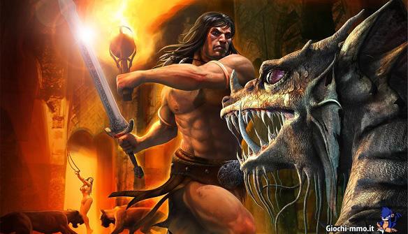 Conan che combatte