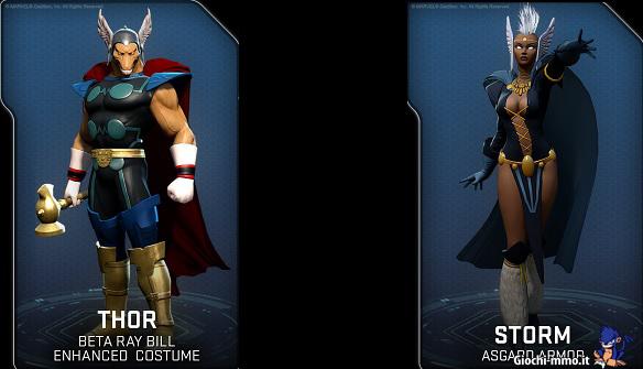 Costumi Asgard Marvel Heroes