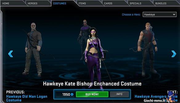 Costumi avanzati Marvel Heroes