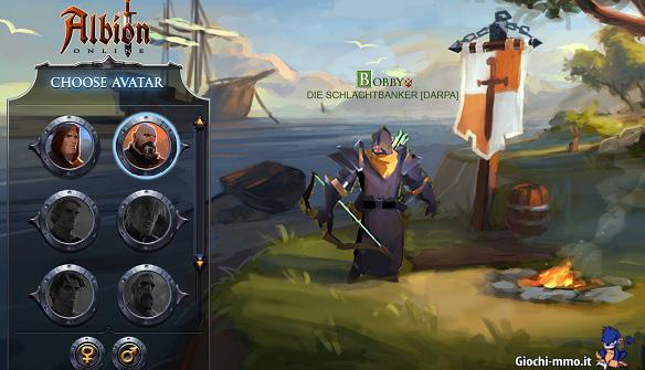Creazione personaggio Albion Online