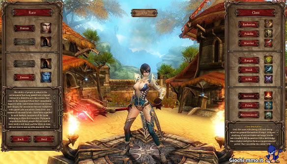Creazione personaggio Sphere 3 Enchanted World