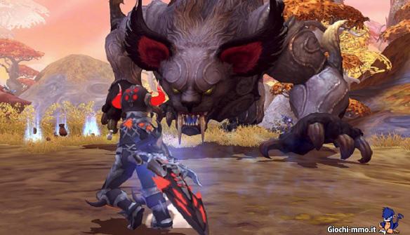 Dark Avenger contro boss