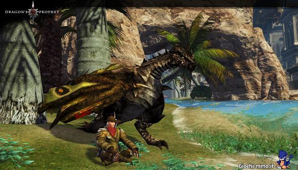 Drago e giocatore Dragon's Prophet