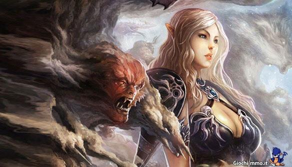 Eclipse War Online donna e mostro