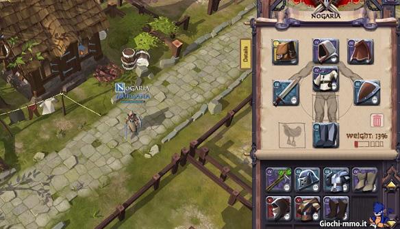 Equipaggiamento personaggio Albion Online