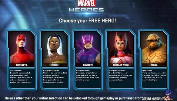 Eroi iniziali Marvel Heroes