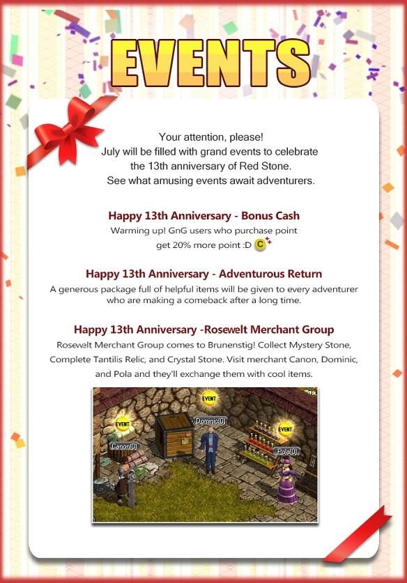 Eventi Red Stone 13° compleanno