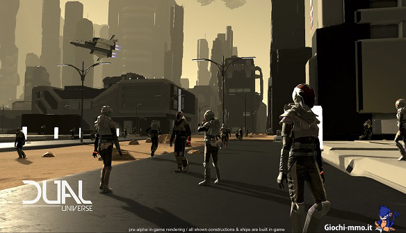 Giocatori in città Dual Universe