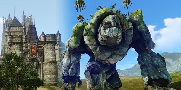 Golem di pietra e castello ArcheAge