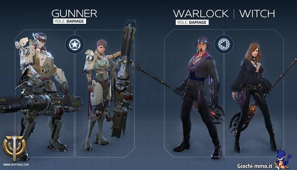 Gunner e Warlock Skyforge