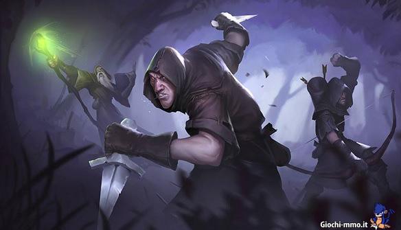 Mago, ladro e arciere Albion Online