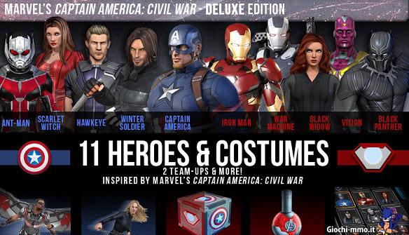 Marvel Heroes Capitan America pack