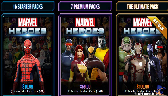 Marvel Heroes founders pack