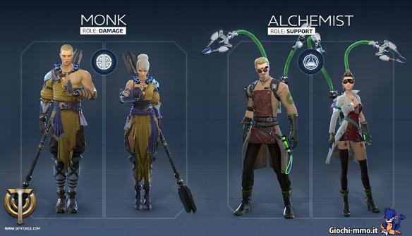 Monk e Alchemist Skyforge