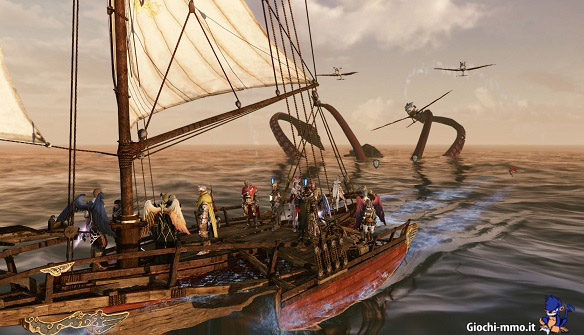 Nave e mostro marino archeage
