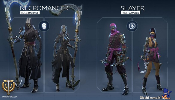 Necromancer e Slayer Skyforge