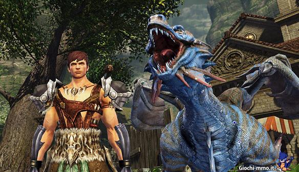 drago e personaggio Dragon's Prophet