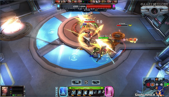 Combattimento MOBA Games of Glory