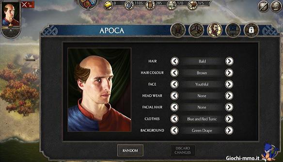 Personalizzazione sovrano Total War Battles Kingdoms