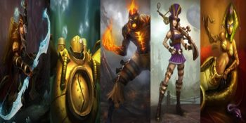 I personaggi di League of Legends: Ashe, Blitzcrank, Brand, Caitlyn, Cassiopeia