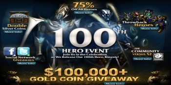 Heroes of Newerth: 100 eroi rilasciati!