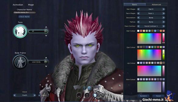 Editor-Personaggio-AION
