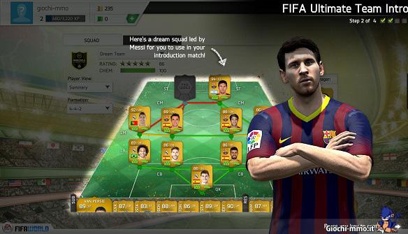 Gestione squadra in FIFA World