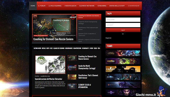 Homepage Element Gaming